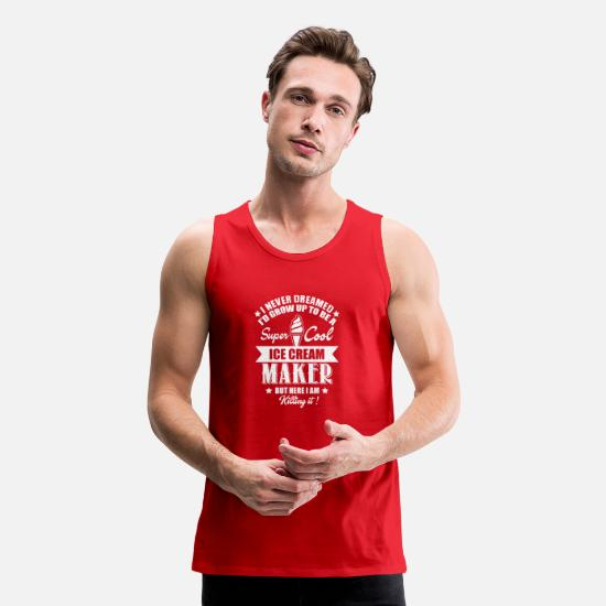 Ice Tank Tops - Best Gift For Ice Cream Maker. Shirt For Dad/Mom. - Men's Premium Tank Top red