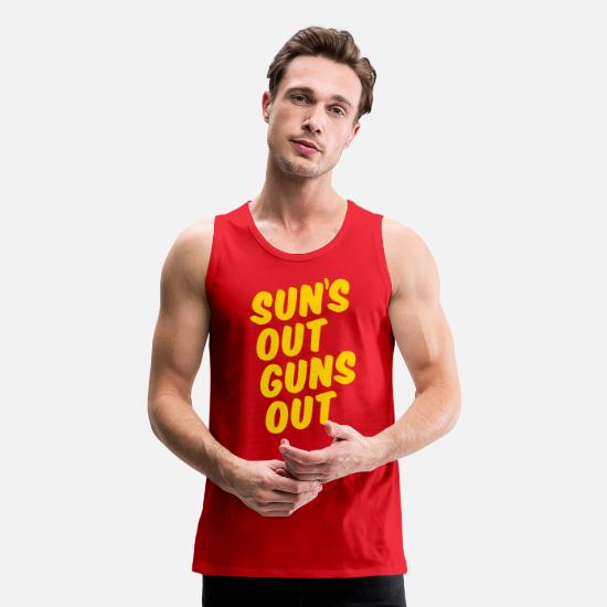 Out Tank Tops - Sun's Out Guns Out - Men's Premium Tank Top red