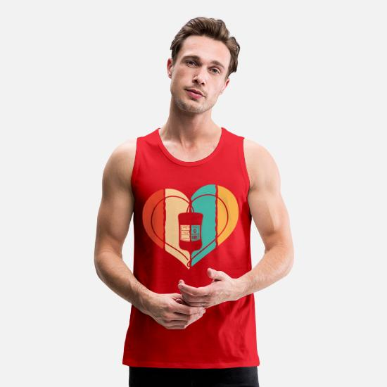 Donation Tank Tops - Vintage Retro Blood Donation gift - Men's Premium Tank Top red