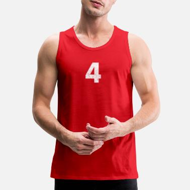 Number 4 distressed,4, Four, Number Four, Number 4 - Men's Premium Tank Top