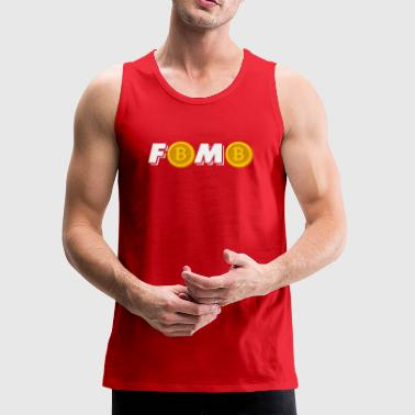 Fomo Bitcoin Crypto Blockchain Digital Cool - Men's Premium Tank