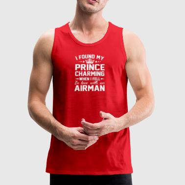 Found Prince Charming Fell Love Airman - Men's Premium Tank