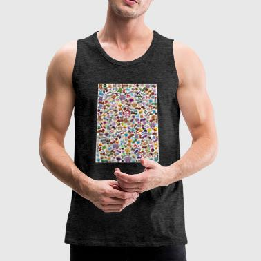 toys background - Men's Premium Tank