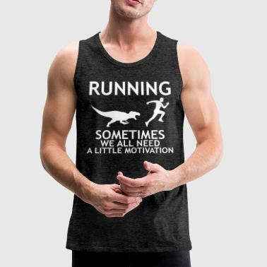 RUNNING WITH T-REX - Men's Premium Tank