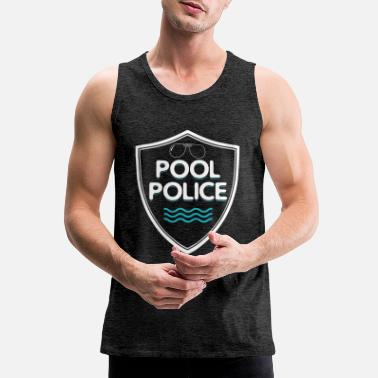Police Pool Police Bademeister Swimming Life Guard Beach - Men's Premium Tank Top