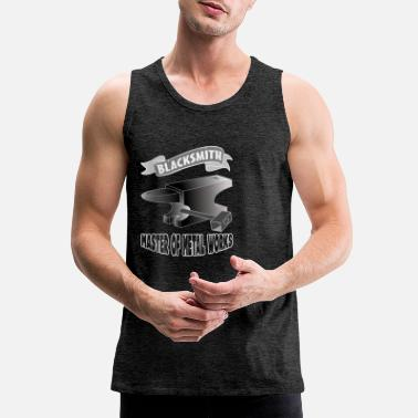 Iron Metal blacksmith smith bladesmith metal gift anvil iron - Men's Premium Tank