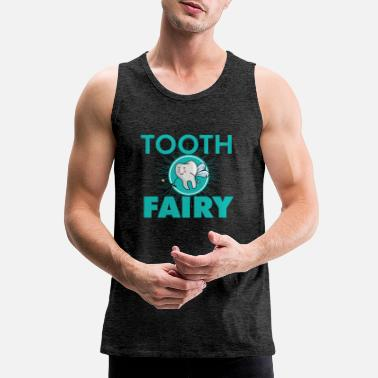 Tooth Tooth Fairy - Flying tooth with a wand - Men's Premium Tank Top