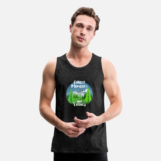 Bestsellers Q4 2018 Tank Tops - Collect memories notThings - Men's Premium Tank Top charcoal gray