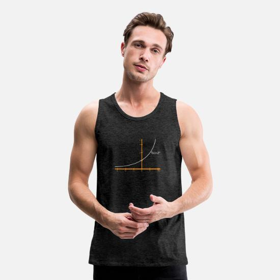 Teacher Tank Tops - Math Graphs - Men's Premium Tank Top charcoal gray