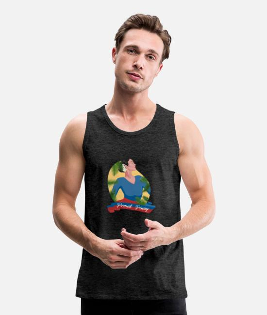 Proud Tank Tops - Philippines Proud Pinay - Men's Premium Tank Top charcoal gray