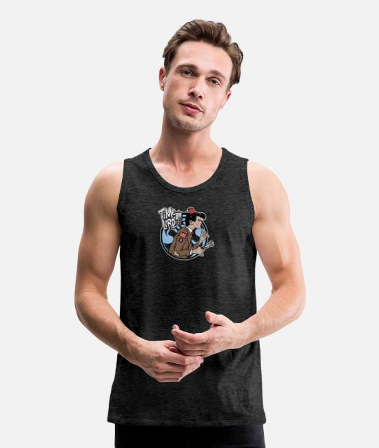 Master Tank Tops - Time Lord - Men's Premium Tank Top charcoal gray