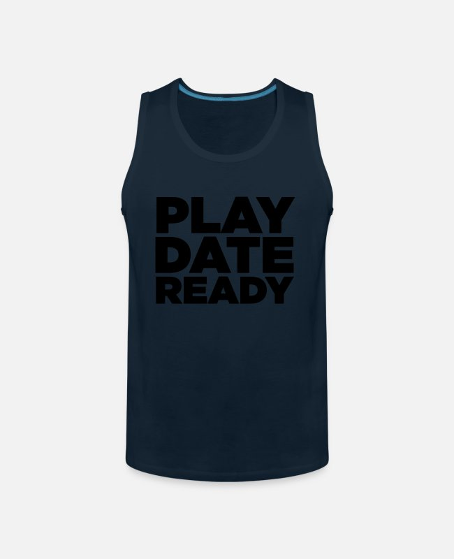 Play Tank Tops - PLAY DATE READY - Men's Premium Tank Top deep navy