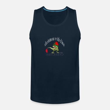 Bloody Christmas With Dino - Men's Premium Tank Top