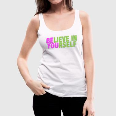Be You - Pink & Green - Women's Premium Tank Top