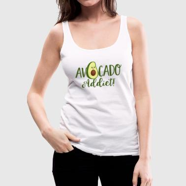 avocado addict -Vegan-Plant based diet-cute green - Women's Premium Tank Top