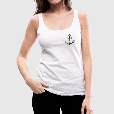 anchor and ropes | fisherman angler sailor - Women's Premium Tank Top