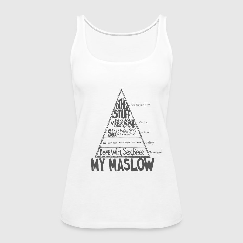 Maslow Pyramid of Needs - Women's Premium Tank Top