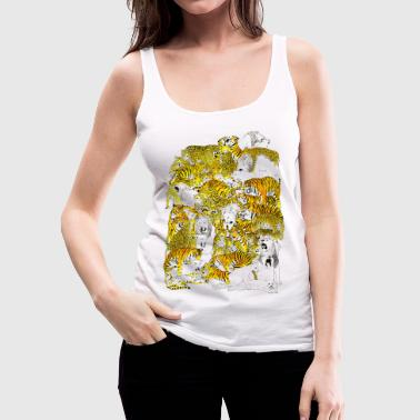 wild cat orgy - Women's Premium Tank Top