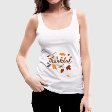 Pregnancy Announcement Thankful Autumn Thanksgiving Day Gift Fall Love - Women's Premium Tank Top