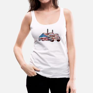 Patriot American Trucking, Truckers,Diesel Truck T-shirt - Women's Premium Tank Top