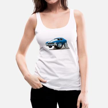 Muscle Car Classic American Muscle Car Cartoon - Women's Premium Tank Top