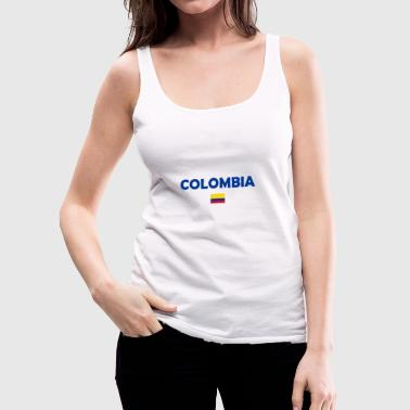 Colombia Flag - Women's Premium Tank Top