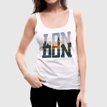 London City Typography - Women's Premium Tank Top