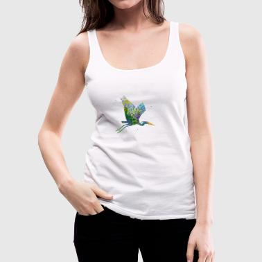 Blue Heron - Women's Premium Tank Top