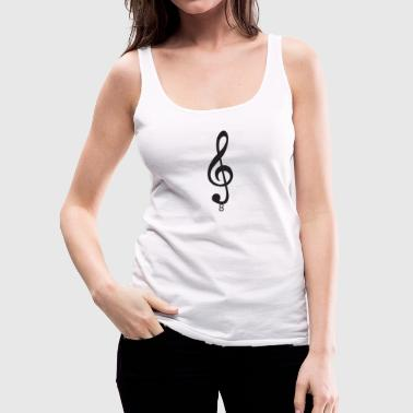 Treble Clef Musical Note - Women's Premium Tank Top