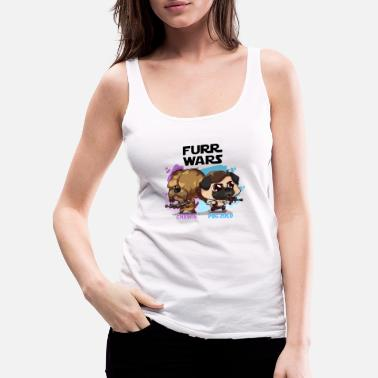 Chewbacca FURR WARS Chewie and Pug Zolo - Women's Premium Tank Top