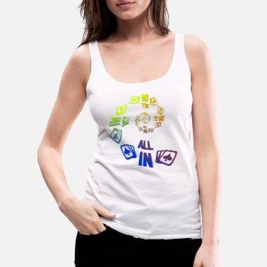 Pik Poker ALL IN Karten Pik Texas Holdem - Women's Premium Tank Top