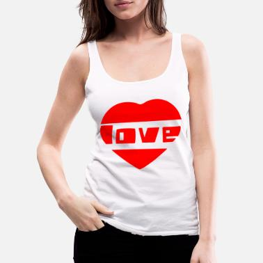 Love With Heart love with heart - Women's Premium Tank Top