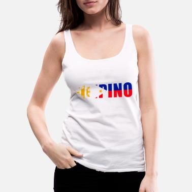 Live Loud. Live Proud. FILIPINO - Women's Premium Tank Top