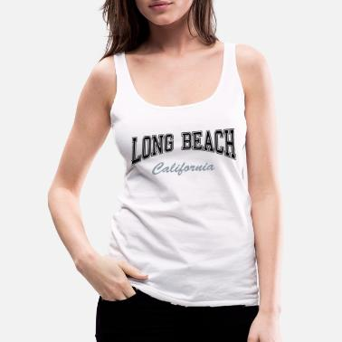 Long Long Beach California - Women's Premium Tank Top