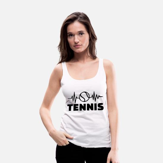 Wimbledon Tank Tops - tennis ball - Women's Premium Tank Top white
