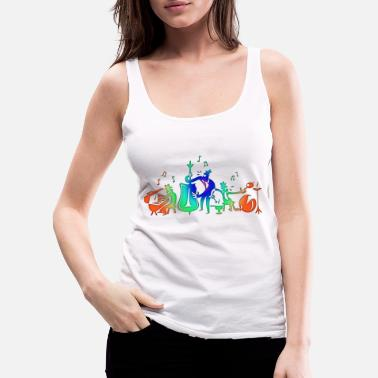 Muisc Colorful Jazz Band - Women's Premium Tank Top
