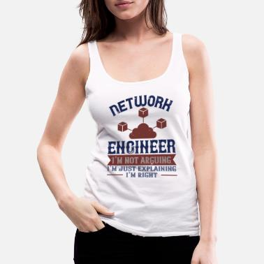 Clever Engineer Slogan - Women's Premium Tank Top