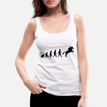 Equitation Evolution Horses Riding Harness Racing Equitation - Women's Premium Tank Top