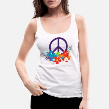 Hippie Hippie Peace Design - Women's Premium Tank Top