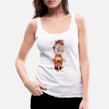 Erotic Exploding Woman Erotic Sexy Woman Illustration - Women's Premium Tank Top