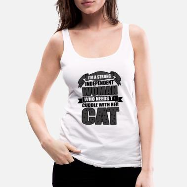 Meow Woman And Cat - Women's Premium Tank Top