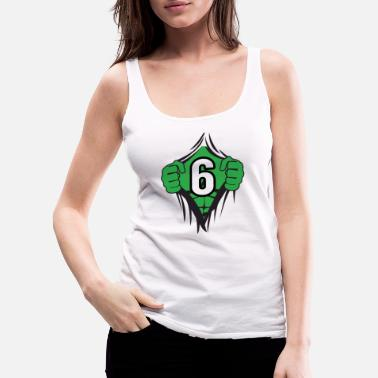 Hulk Green Superhero Comic Cartoon 6 Year Old Birthday - Women's Premium Tank Top