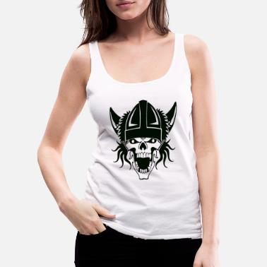 Bone viking skull - Women's Premium Tank Top