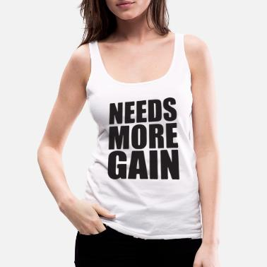 Heavy Metal needs more gain - Women's Premium Tank Top