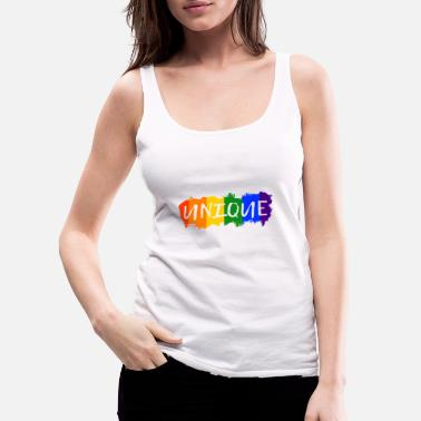 LGBT unique Gay Pride CSD Queer Rainbow lesbian - Women's Premium Tank Top