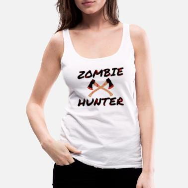 Blood Stain Zombie Hunter - Horror Infects Undead Blood Stain - Women's Premium Tank Top