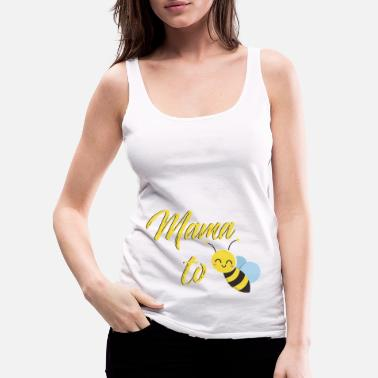 Bee Mom design. Mama tshirt. Design for moms. - Women's Premium Tank Top