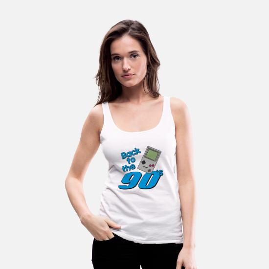 90s Tank Tops - Back To The 90s - Women's Premium Tank Top white