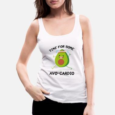 Fitness Time For Some Avo-Cardio - Women's Premium Tank Top