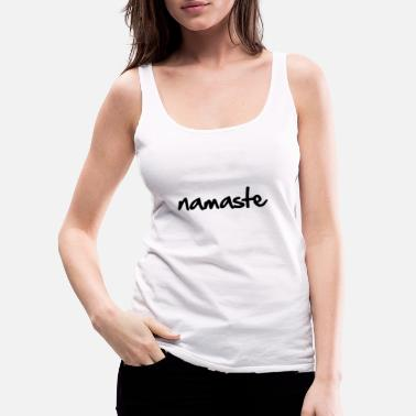 Lovely namaste black - Women's Premium Tank Top